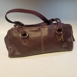 The Sak EggPlant Purple Leather Purse Med/Sm Size